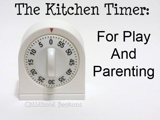Using the kitchen timer for fun and parenting.