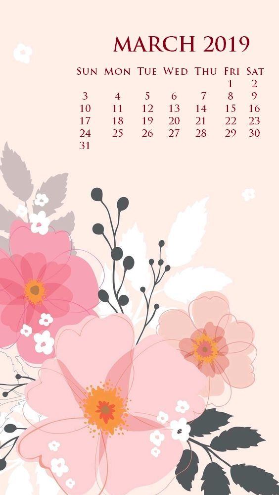 March 2019 Iphone Screen Saver Calendar Wallpaper In 2019