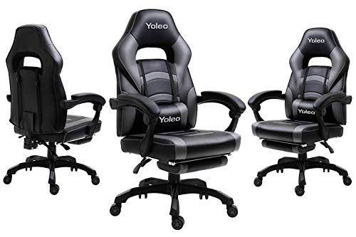 Yoleo Chaise De Bureau Fauteuil De Jeu Avec Roulettes Dossier Inclinable En Pu Chaises De Gaming Pivotantes Ergonomiques Chaise In 2020 Gaming Chair Chaise Home Decor