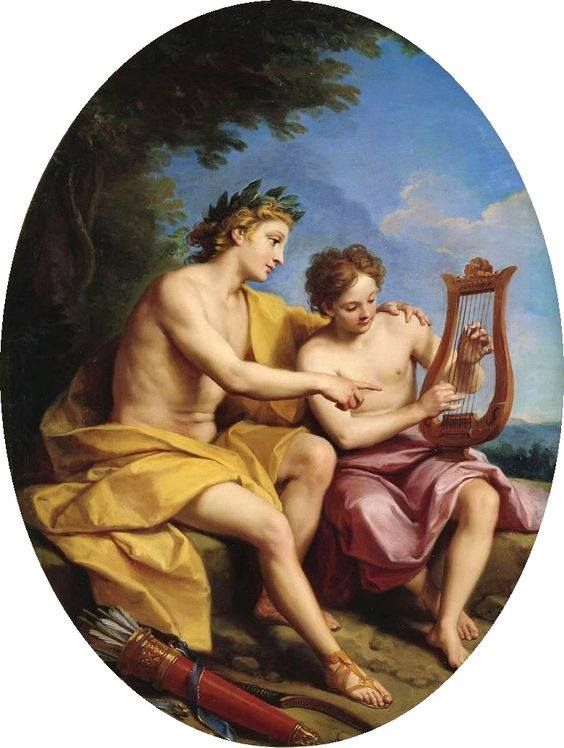 Louis de Boullogne II: Apollo Teaching Hyacinth to Play Lyra, c ...