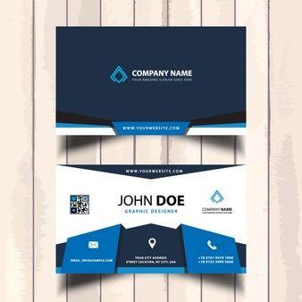 Bleu entreprise carte de visite