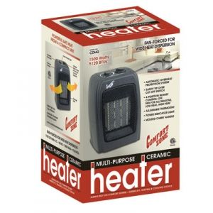 Comfort Zone 1500w Ceramic Heater With Thermostat