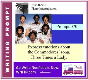 Writing Prompt: Express Emotions About Commodores' Three Times a Lady
