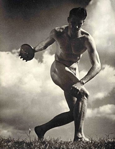 Leni Riefenstahl, The Discus Thrower. The controversial photographer and film maker whose images from the 1936 Nazi Berlin Olympics have inspired photographers every where. www.professionalphotographer.co.uk