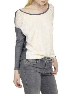 Tee-shirt dévoré et floqué Blanc by ONE STEP