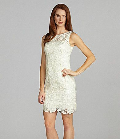 Adrianna Papell Sleeveless Lace Dress | Dillards.com