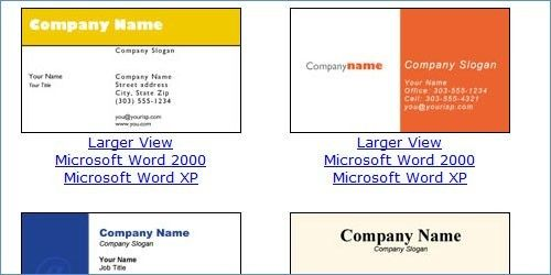 Business Card Template Free Microsoft Word Microsoft Business Card Templ Free Printable Business Cards Business Card Template Word Free Business Card Templates