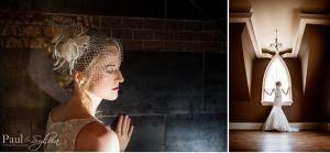 elegant portraits of bride