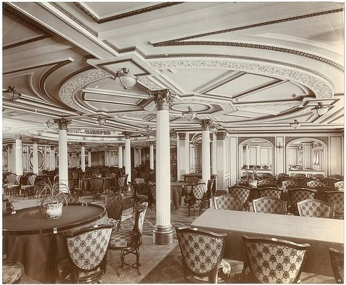Interior of the Lusitania: