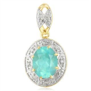 Paraiba-Opal-Goldanhänger