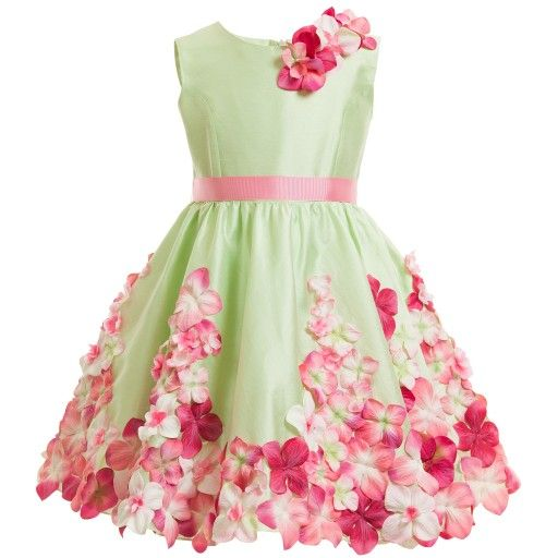 Monnalisa Chic - Couture Pink Silk & Tulle Dress | Childrensalon