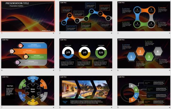 Abstract Art PowerPoint by SageFox