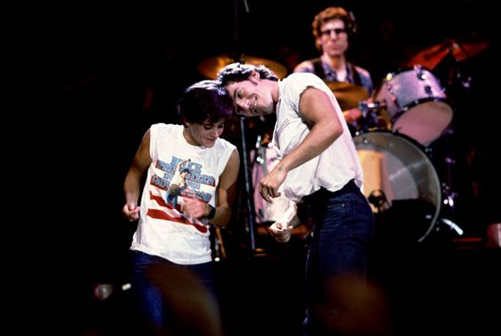 Courtney Cox & Bruce Springsteen at the St. Paul Civic Center.  Kick off of the Born In The USA Tour!
