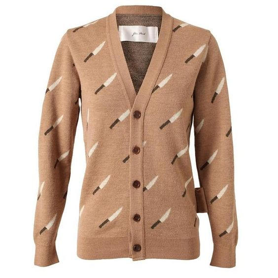 JULIEN DAVID 'Knife' Wool Cardigan ($515) ❤ liked on Polyvore