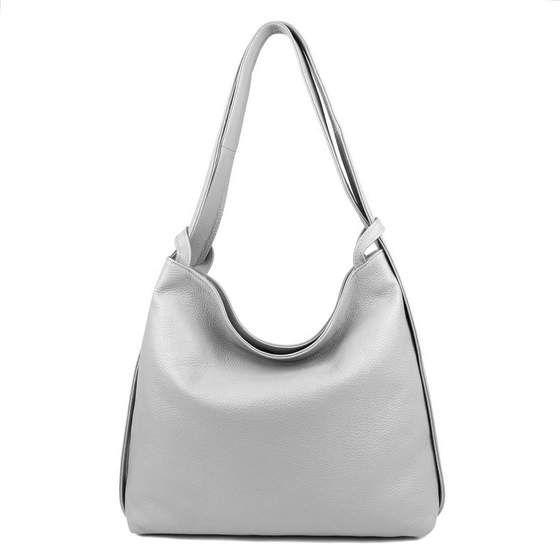 Obc Made In Italy Damen Echt Leder Tasche Rucksack 2 In 1 Tsc172 Hellgrau In 2020 Schultertasche Rucksack Taschen