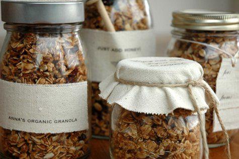 fun food gift idea - tea, granola, pickling kit