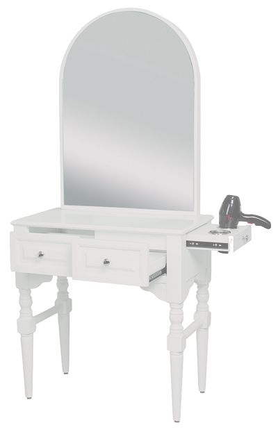 The simple elegance of the Venice Styling Station will whisk you out of the big city into the quaint canals. The beautiful design of this styling station will lighten up any salon space and leave a memorable impression on even your most affluent client!