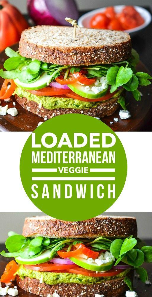 Hummus And Feta Sandwiches On Whole Grain Bread Recipe — Dishmaps