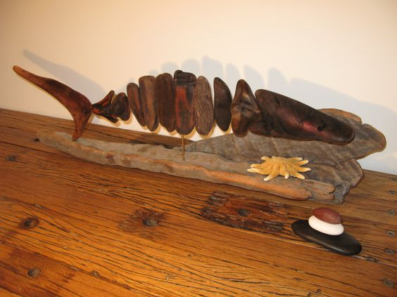 Driftwood fish...Hake..Natural object art...Waiitiboy..Punakaiki.