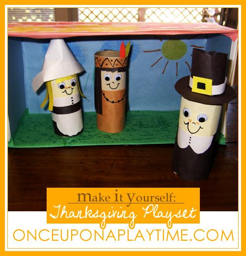 Make Your Own Pilgrim Native American Finger Puppets And