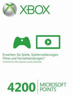 Microsoft Live Points Card 4.200