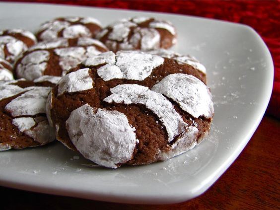 If you haven't tried these you're totally missing out; Chocolate Crinkle Cookies