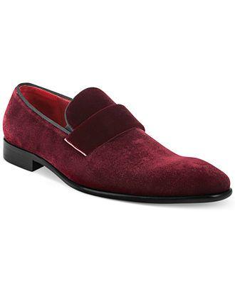 Hugo Boss Evelt Velvet Loafers - Men's Designer Shoes - Men - Macy's