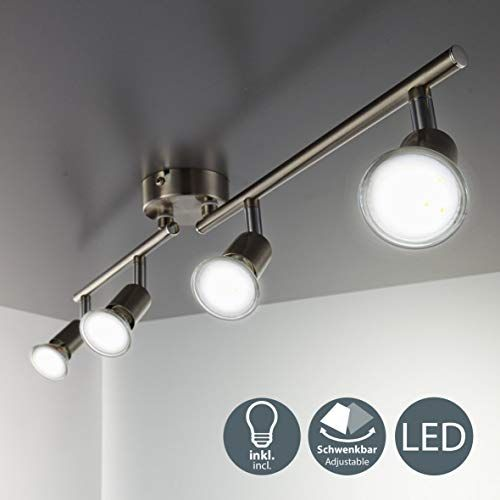 B K Licht Led Ceiling Spotlight Bar With 4x 3w Gu10 Bulbs Included And Rotatable And Swive In 2020 Led Ceiling Spotlights Ceiling Spotlights Ceiling Lights Living Room