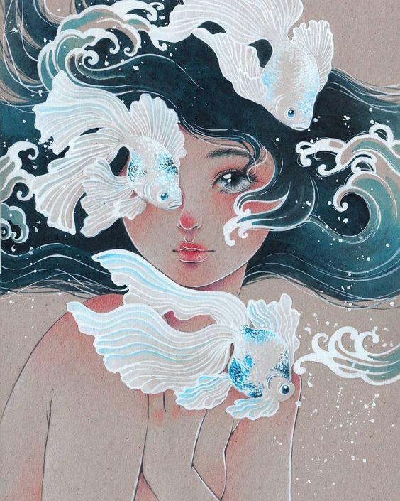 Artist: Victoria Rivero Artwork: Veiltail AX2018