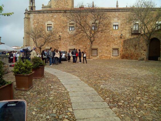 Rodaje de MasterChef en Cáceres, plaza de Las Veletas.