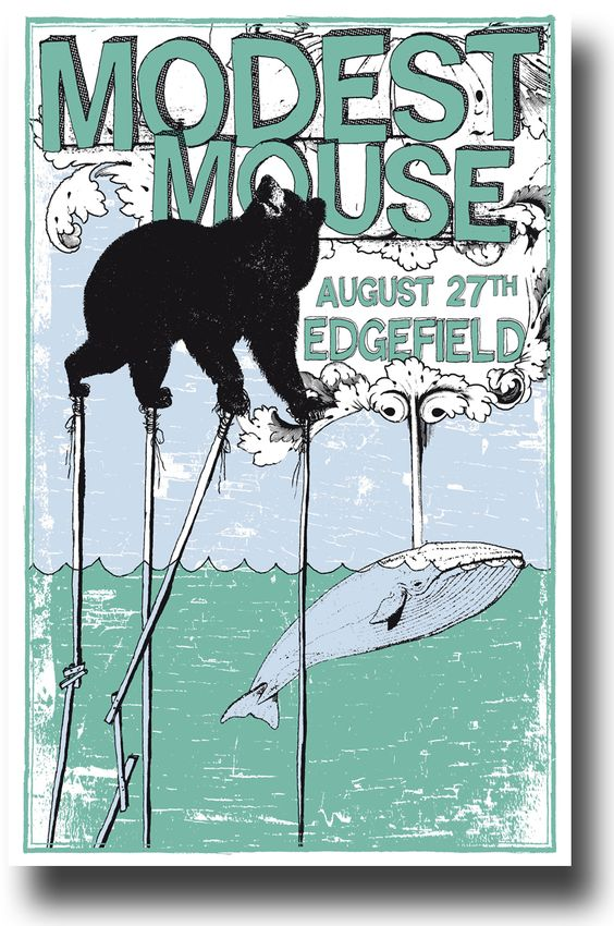 Modest Mouse on the grass at the Edgefield. That was a great show. #ConcertPosters #ModestMouse