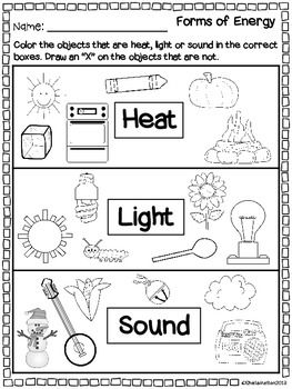 Worksheet Forms Of Energy Worksheet science our life and form of on pinterest forms energy heat light sound