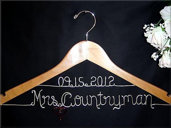 Personalized Dress Hangers for the Bride and the Wedding Party @ Lori Lynn's Wedding Hangers ;)