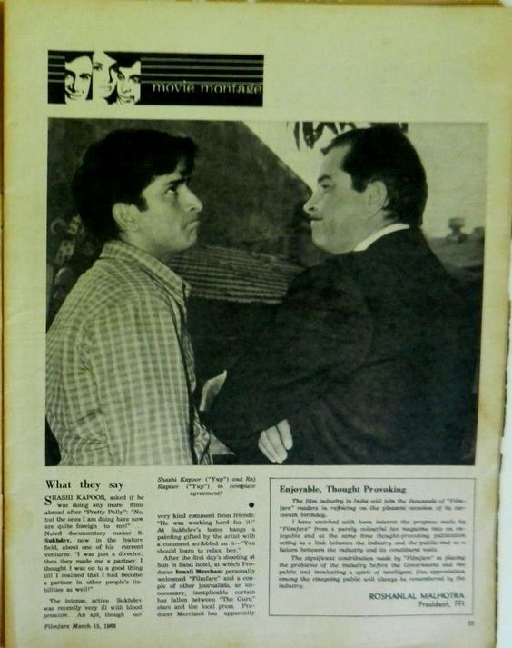 Shashi Kapoor and Raj Kapoor