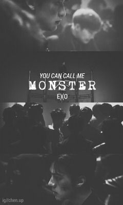 exo black and white wallpaper and monsters on pinterest