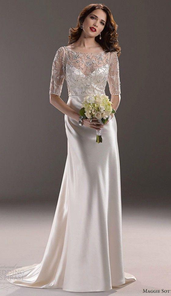 Simple Elegant Wedding Dress For Older Brides Over 40 50 60 70 Elegant Second Wedding Dres Wedding Dresses Simple Elegant Wedding Dress Column Wedding Gown