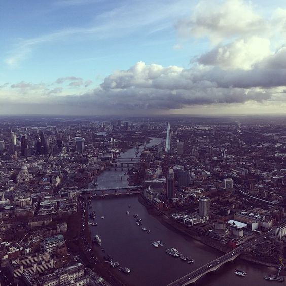 #London on this #winters day. #winter #city #river #instalike #instafollow #instalondon #clouds