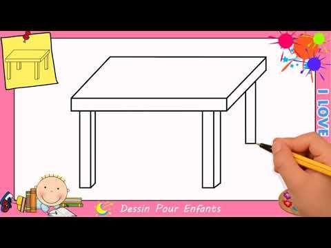 dessin table facile etape par etape