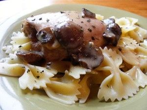 Creamy Chicken with Mushrooms | OAMC from Once A Month Mom