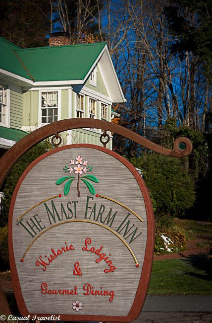The Mast Farm Inn- a peaceful country retreat nestled high in North Carlona's Blue Ridge Mountains www.casualtravelist.com
