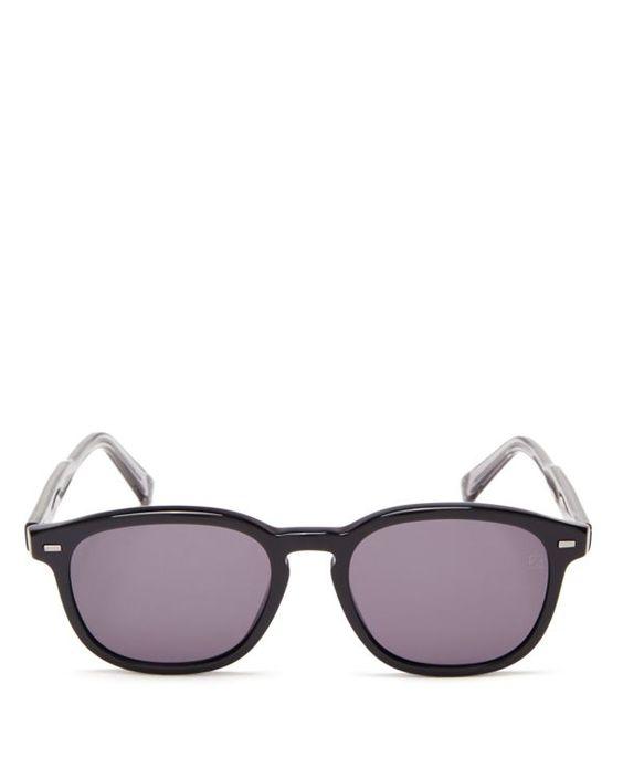 Zegna Polarized Round Sunglasses, 52mm
