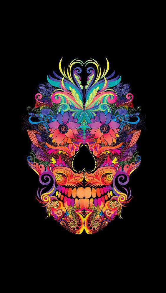 skull wallpaper 133 colorful - photo #19