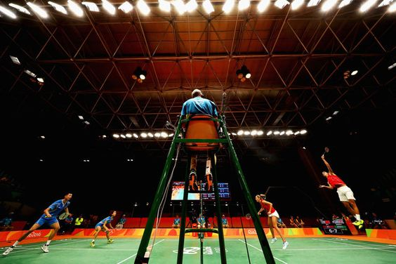 Chris and Gabby Adcock of Great Britain or Team GB compete against Ma Jin and Xu Chen of China in the badminton Mixed Doubles. 59   Best Photos From The Rio Olympics