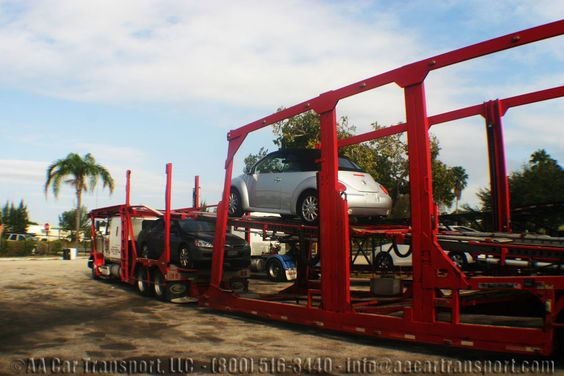 How to ship a car: Half way through the ramp.