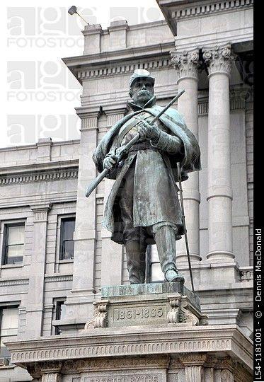 Monumento de la guerra civil de la unión Soldado Denver Colorado