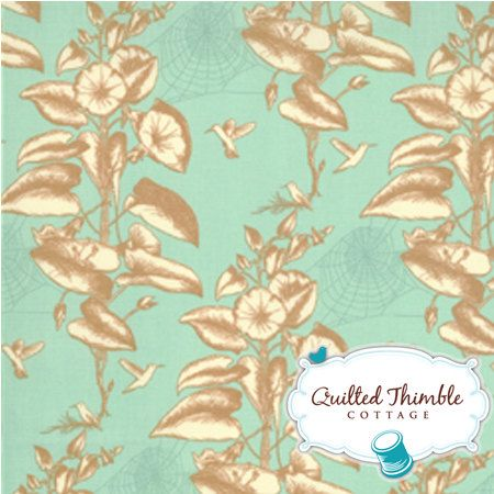 Toile in Ripple 2502436  Botany by Lauren by quiltedthimblecottag, $8.00    Like the blue for the walls