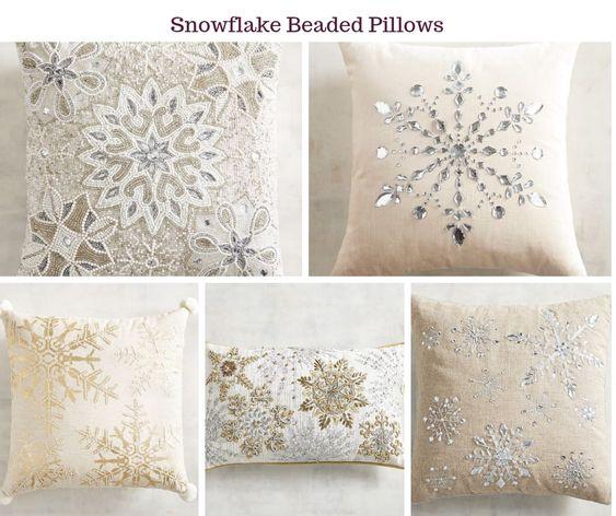Snowflake Beaded Pillows