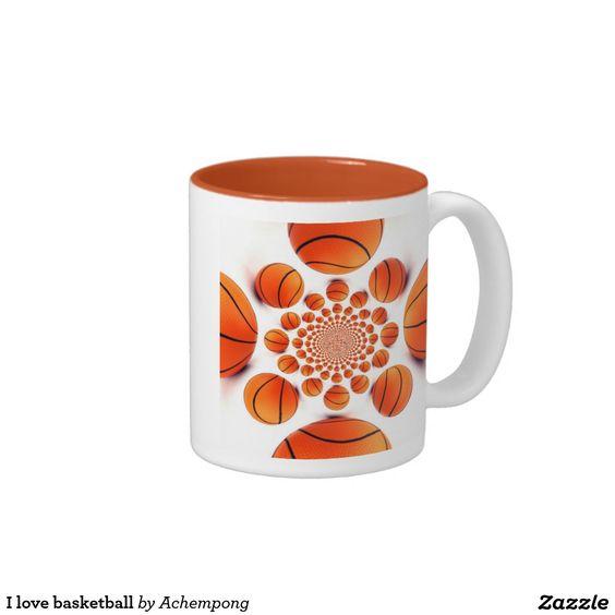 #Your #Custom #325 ml  #Two-Tone #Mug ##I #love  #basketball the #game of #champions