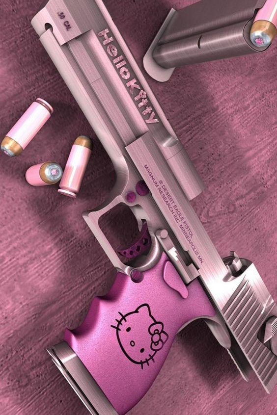 Girly girly gun but unlikley a girly girl will shoot it