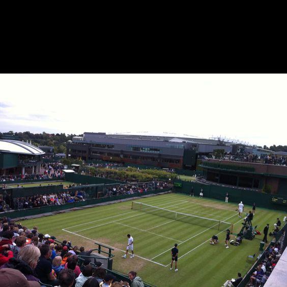 Overlooking Court 18 at Wimbledon 2011